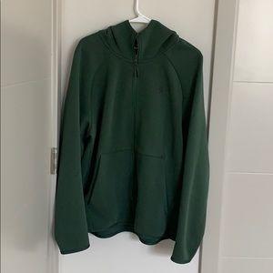 Green Nike Zipper Hoodie